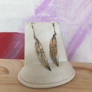 (2/$20) Silver Handmade Feather Earrings